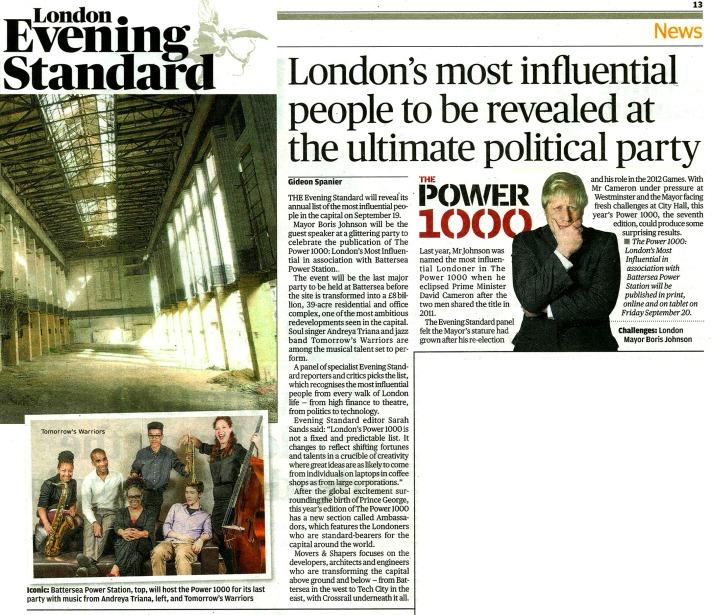 Evening Standard Power 1000 Party