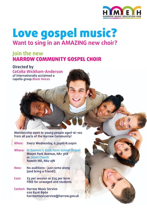 Harrow Community Gospel Choir flyer