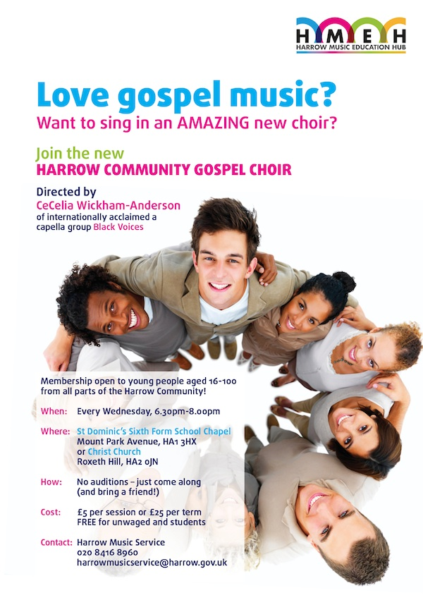 Harrow Community Gospel Choir flyer
