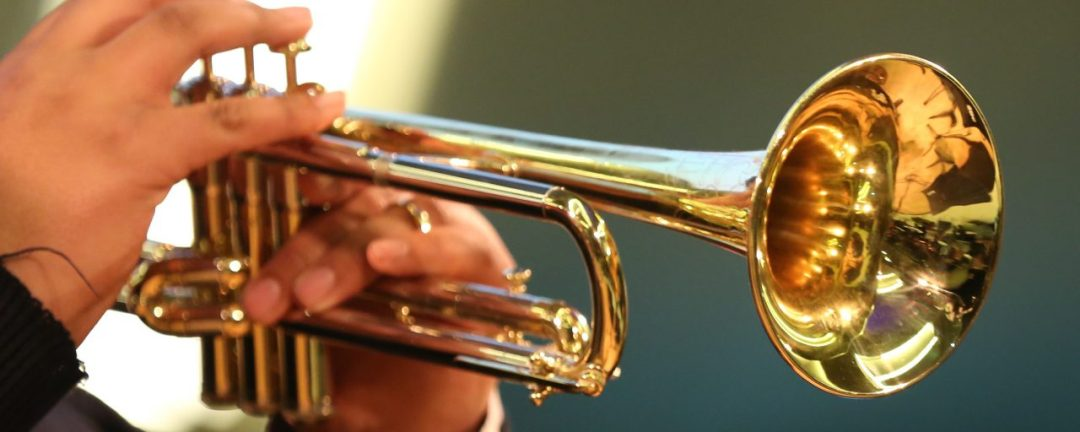Tomorrow's Warriors close up trumpet