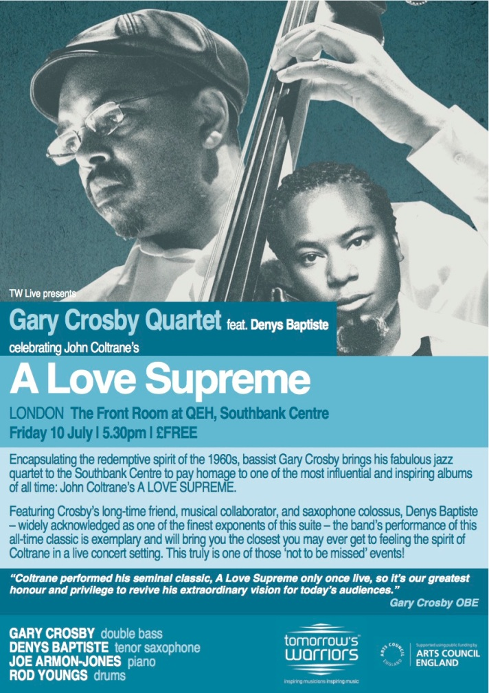 IMAGE: Gary Crosby 4tet-A LOVE SUPREME