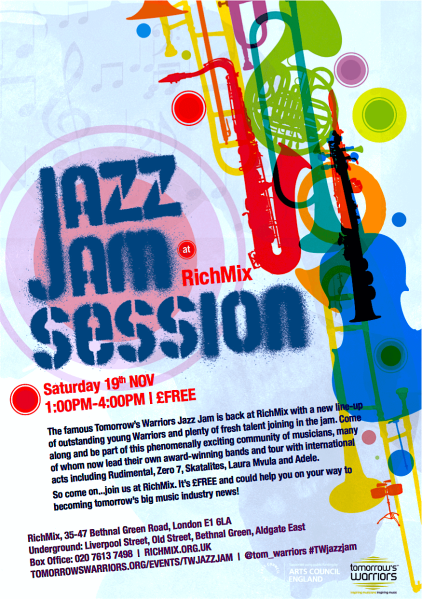 Tomorrow's Warriors Jazz Jam flyer