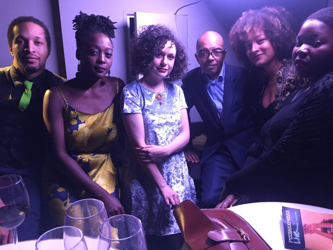 Gary Crosby with members of Nerija at Parliamentary Jazz Awards 2017