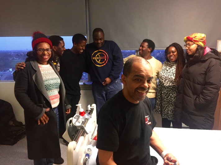 Gary Crosby visited by friends whilst recovering from stroke - February 2018