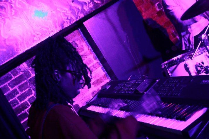 Roella playing the keys