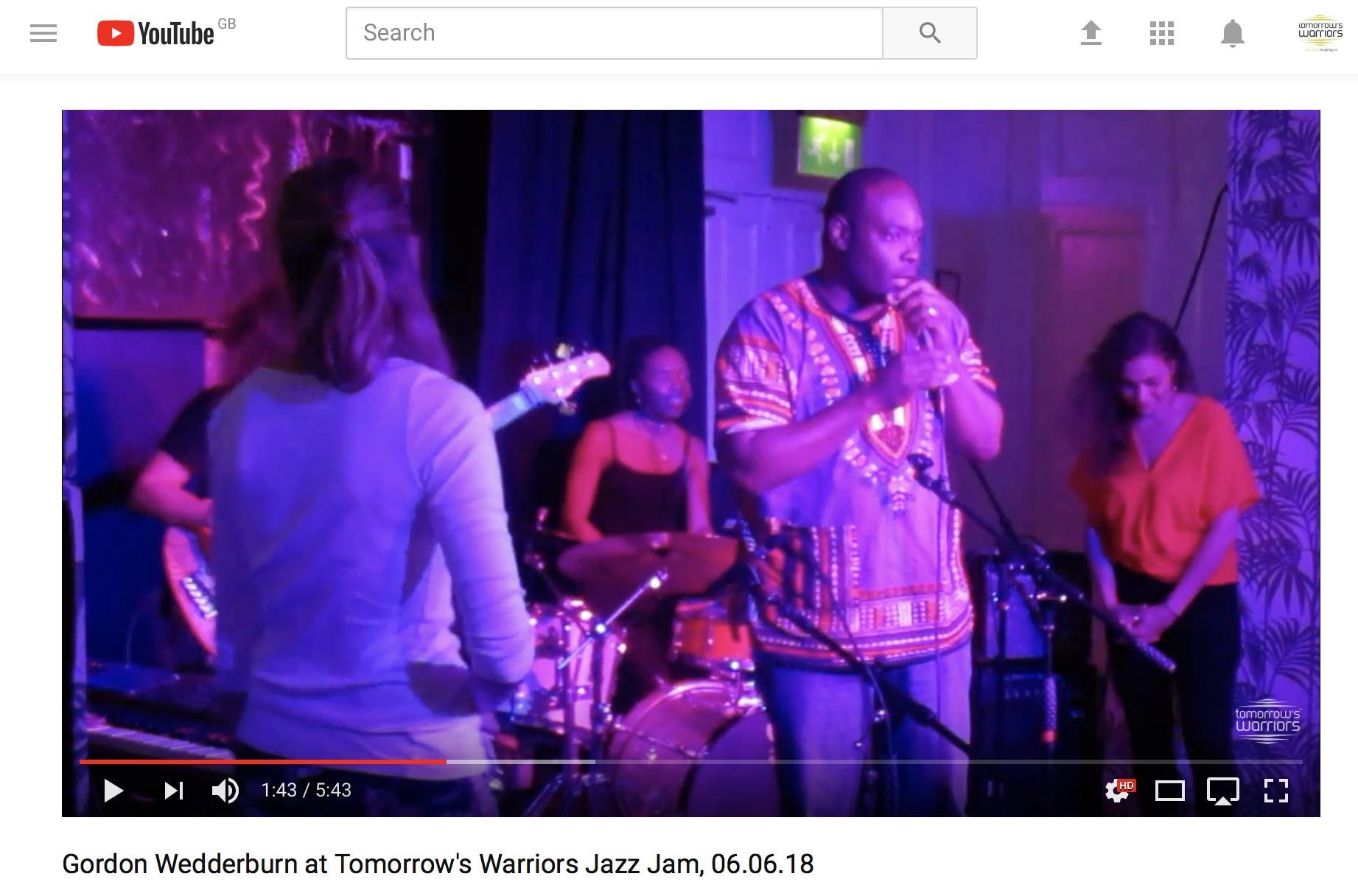 Youtube video of Gordon Wedderburn's speech at our jam