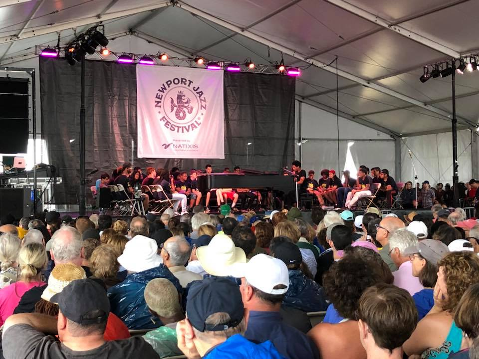 At the Newport Jazz festival