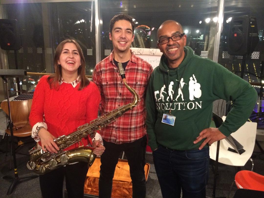 Alam Nathoo donates saxophone to TW-Gary Crosby-Beth Hopkins2
