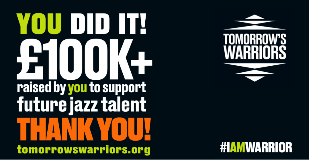 Tomorrow's Warriors says THANK YOU #IAMWARRIOR