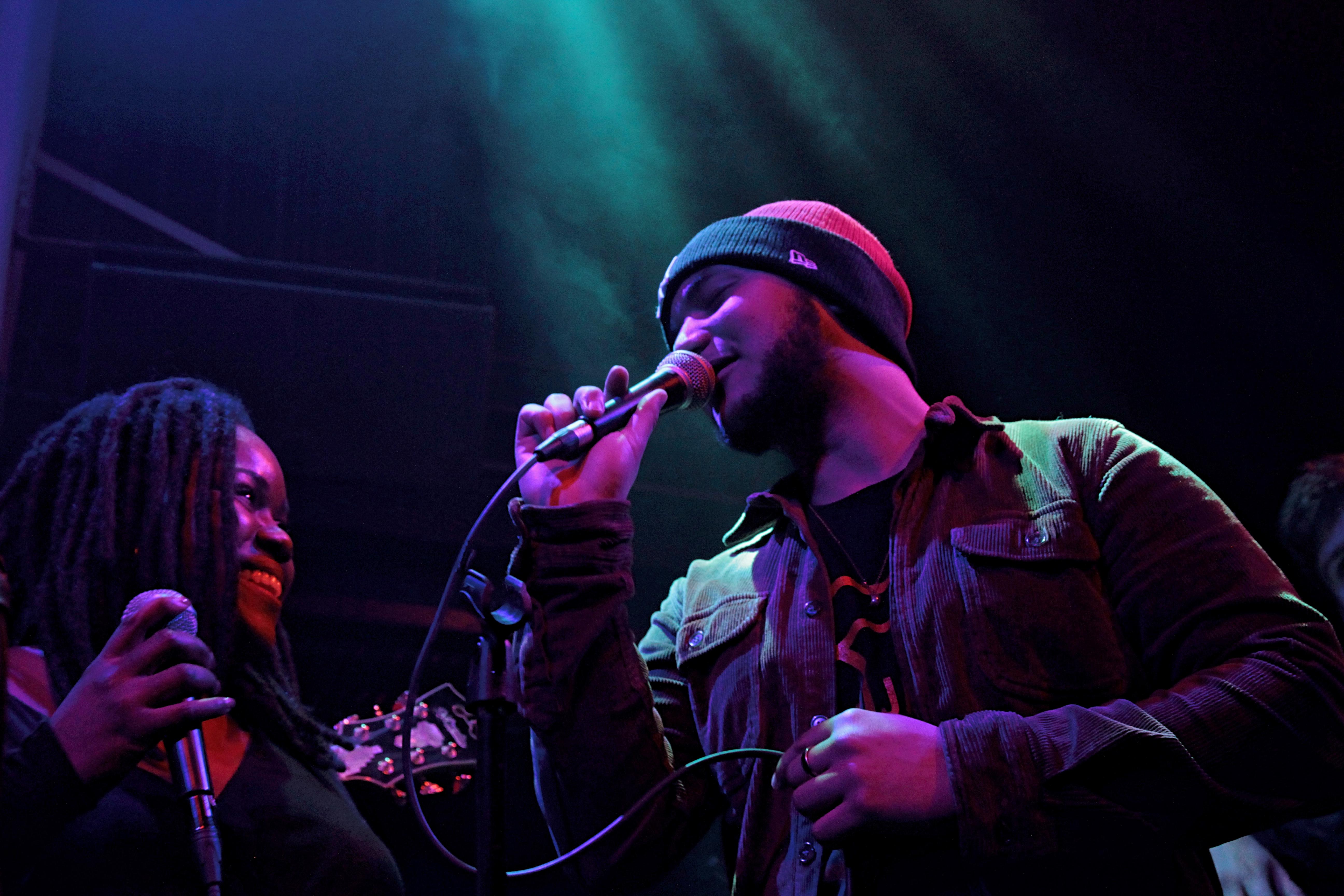 Zara McFarlane and Renato Paris singing at The Jazz Cafe, London
